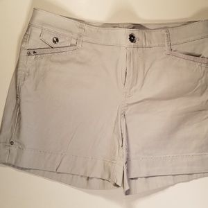 WHBM Gray Dressy Shorts with Rhinestone Accents B9